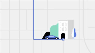 Driver travels to rider's destination