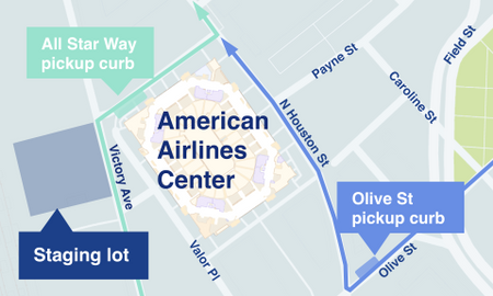 Instructions For Drivers At American Airlines Center Uber