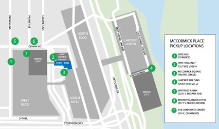 Instructions For Drivers At Mccormick Place Uber