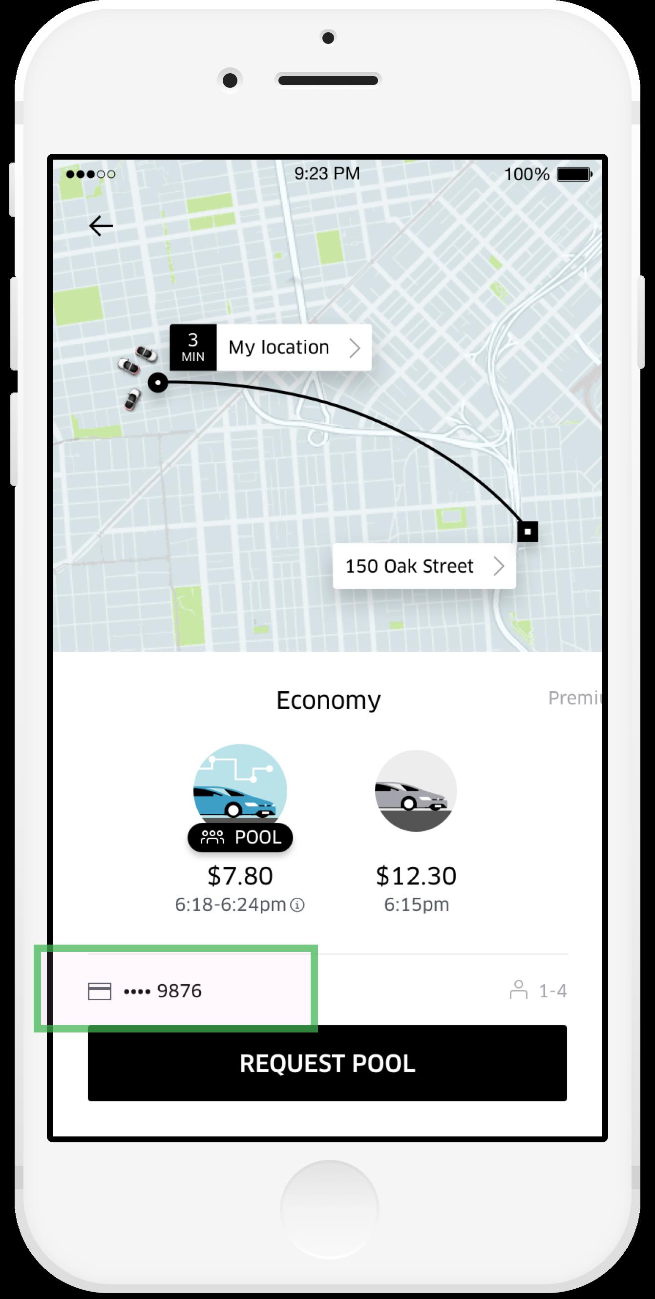 Open the Uber app