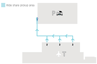 Adelaide Rideshare pickup area diagram