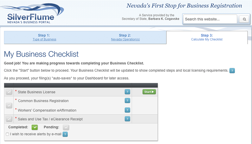 How to Apply for a Nevada Business License