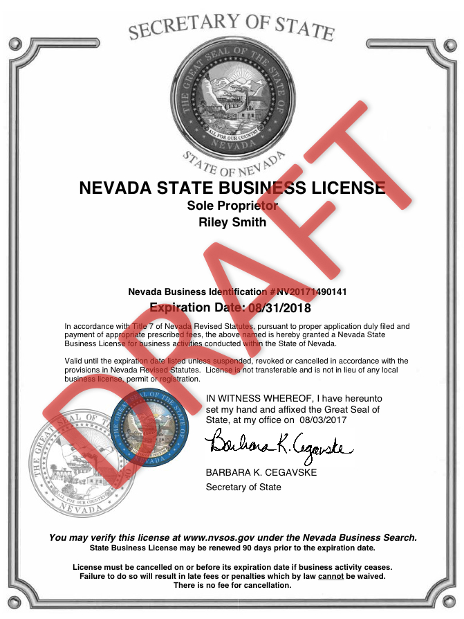 Apply for a Nevada Business License